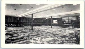 Weirton, West Virginia Postcard TEEN AGERS LOUNGE - COMMUNITY CENTER c1940s