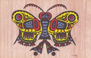 AS: C. B. Gruel, Colored, BUTTERFLY Totem Pole, Wanderer Spirit, Haida Tr...