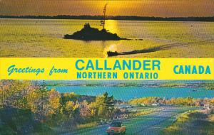 Canada Ontario Callander Greetings From Callander Northern Ontario