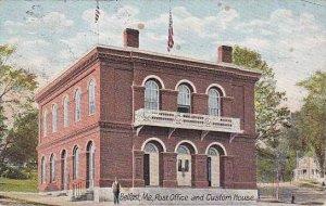 Maine Belfast Post Office & Custom House 1907