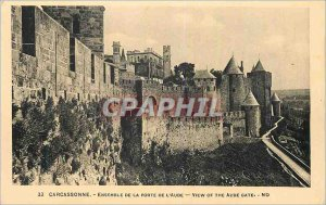 Postcard Old 33 carcassonne set the door of the Aude