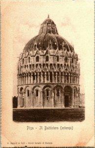 Vtg Postkarte - Pisa Italien - Il Baltistero (Estero) - G.Barasanti & Figli