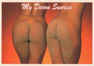 My Devon Sunrise Risque Ladies Bum Procession Postcard
