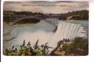 American Falls and Steel Arch Bridge, Niagara Falls, New York