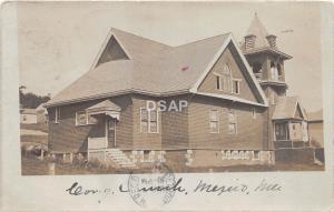 A69/ Mexico Maine Me RPPC Real Photo Postcard 1906 Congregational Church