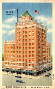 Washington Walla Walla Marcus Whitman Hotel 1941 Curteich