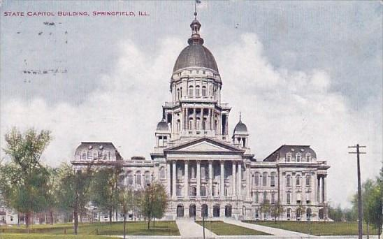 Illinois Springfield State Capitol Building 1909