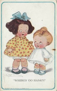 Grace DRAYTON-WIEDERSEIM, 1900-10s; Child asks toddler, Where's 'oo Hanky?