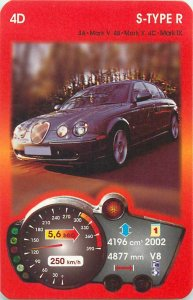 Piatnik 6x9cm auto revue trade card 4D JAGUAR S TYPE R