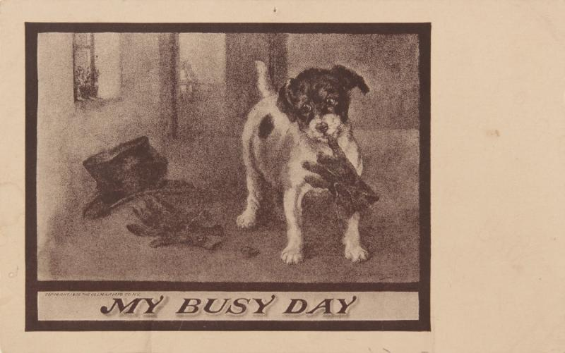 My Busy Day Dog Puppy Dog's Life Sepia-Gravure Series 160