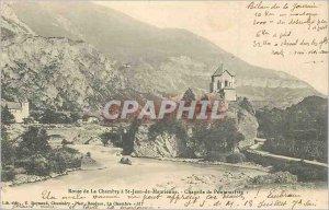 Postcard Old Road House St Jean de Maurienne Chapel Pontamafrey (map 1900)