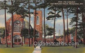 Churches Vintage Postcard Montgomery, Alabama, USA Vintage Postcard Cathedral...