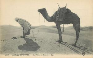 North Africa scenes & types desert ethnic pray camel