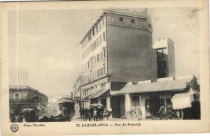 Maroc CPA Casablanca Rue de Marché Flandrin (37668)