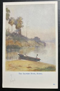 Mint Burma Picture Postcard Cover The Salween River Art