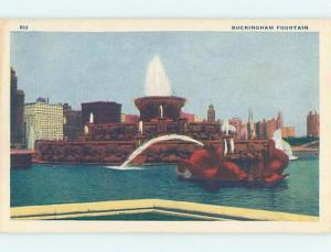 Unused Linen PARK SCENE Chicago Illinois IL hk6328