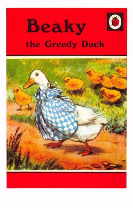 Postcard Beaky The Greedy Duck (1951) Series 497 Ladybird Book Cover