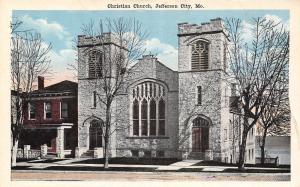 Jefferson City Missouri~Christian Church~1920 Postcard