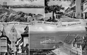 Sonnigen Feriengruess aus Meersbuerg am Bodensee, Schloss, Obertor Uferpromenade