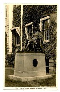MA - Cambridge. Harvard College, Statue of John Harvard  *RPPC