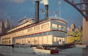 Chicago IL~Ontario Street Salon's Landing~Showboat Sari-S~Artist Drawn~1962 PC