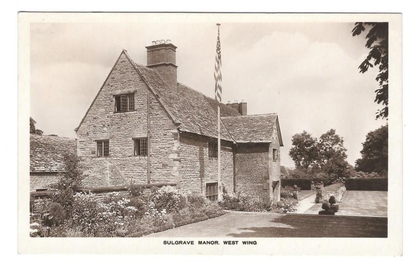 UK Sulgrave Manor West Wing Vtg Blinkhorns Postcard George Washington Ancestry