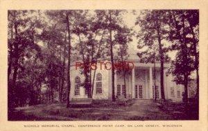 NICHOLS MEMORIAL CHAPEL, CONFERENCE POINT CAMP, LAKE GENEVA, WI