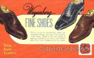 Weyenberg Shoe Advertising Postcard Postcards Unused