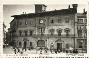 spain, PALMA DE MALLORCA, Ayuntamiento, Town Hall (1950s) RPPC