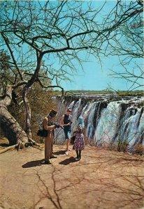Nairobi Zambia Victoria falls man camera postcard
