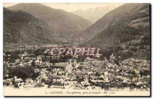 Luchon Old Postcard General view taken of Cazaril