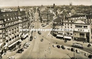 luxemburg, LUXEMBOURG, Avenue de la Liberté et Vue Générale, Tram (1955) Stamp