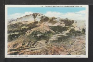 Pike's Peak,Auto Highway,Colorado Springs,CO Postcard