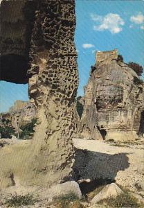 France Vestiges du vieux chateau du village des Baux-En-Provence