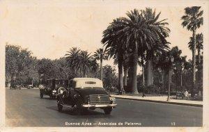 Argentina Buenos Aires Avenidas de Palermo Vintage Cars real photo Postcard