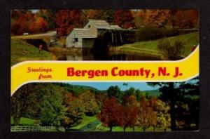 NJ Greetings from BERGEN COUNTY NEW JERSEY Postcard PC