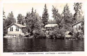 Kenora Ontario Canada Chaloner Cottages Real Photo Antique Postcard K54843