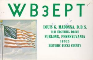 WB3EPT Louis G Madonna D D S Furlong Pennsylvania 1977