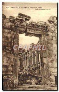 Postcard Old Gate Baalbek Temple of Jupiter External view