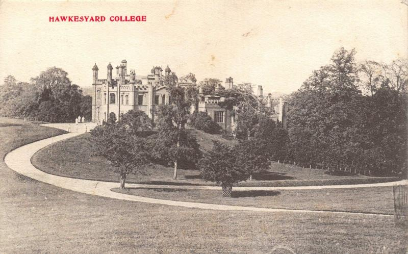 Vintage 1910 Staffordshire Postcard Hawkesyard College Superb Armitage CDS #687