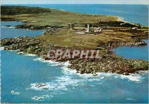 Modern Postcard Ile d'Yeu Vendee Aerial view Pointe Crows