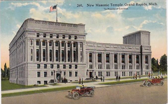 New Masonic Temple Curteich Hippostcard