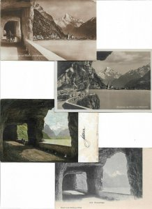 Switzerland Axenstrasse Postcard Lot of 10 01.11