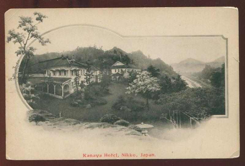 Early Japan Photo Postcard Kanaya Hotel Nikko  B3985