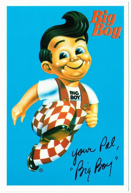 Advertising Postcard for Big Boy Restaurant 1990s