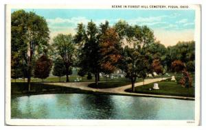 Early 1900s Forest Hill Cemetery, Piqua, OH Postcard