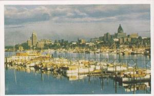 View Of The Yacht Harbour & The Waterfront, Vancouver Skyline, Vancouver, Bri...
