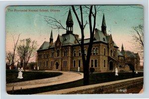 Ottawa ON, The Provincial Normal School, Ontario, Vintage Postcard Z59