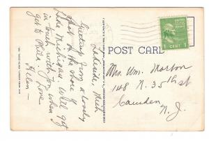 South Bend Indiana Court House Vintage 1945 Curteich Linen Postcard