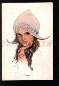 032843 DANE Girl by Harrison FISHER vintage FINNISH RARE PC